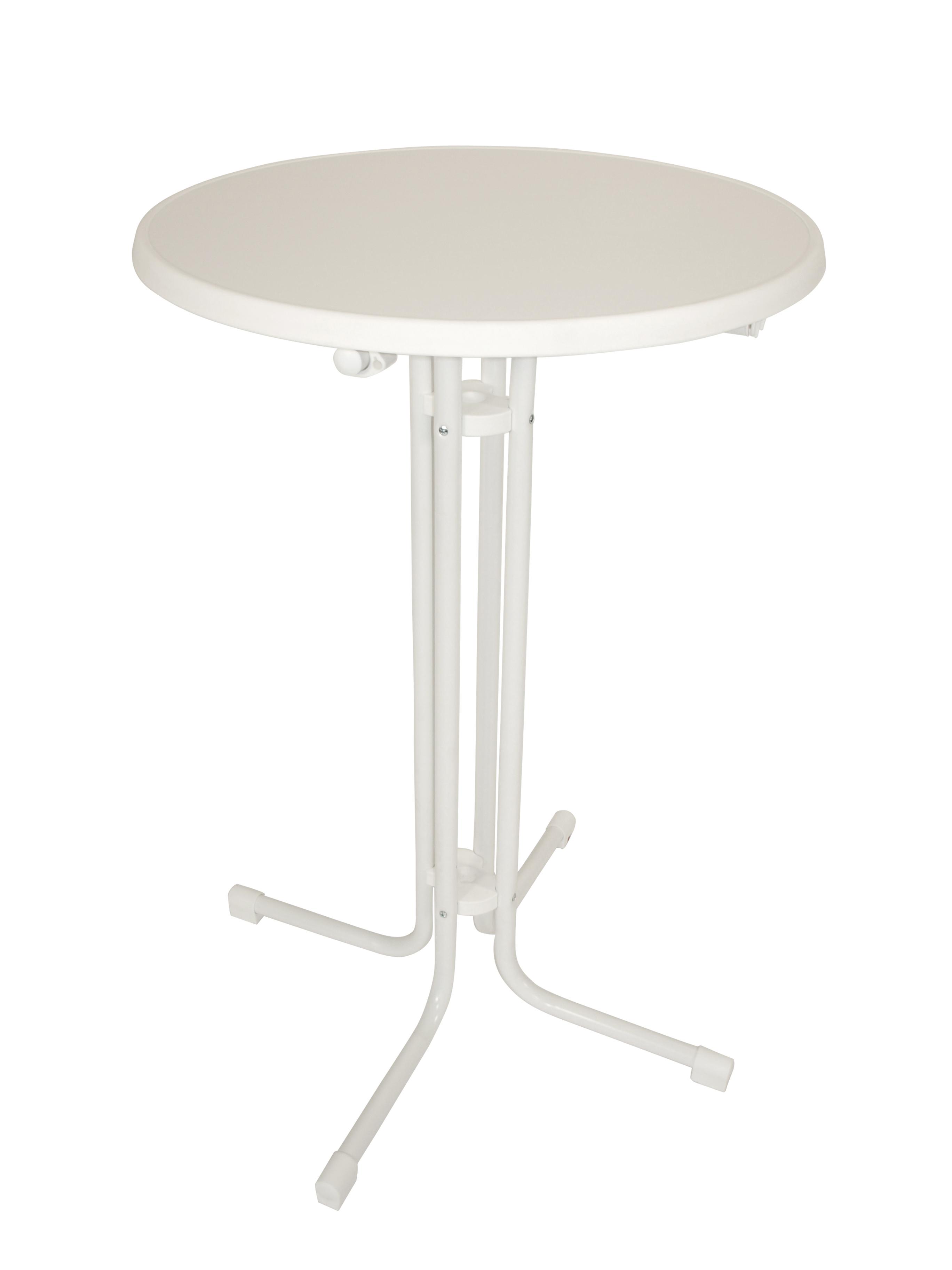 mfg klapp stehtisch stehbiertisch mit sevelit platte 70cm weiss marmoriert ebay. Black Bedroom Furniture Sets. Home Design Ideas