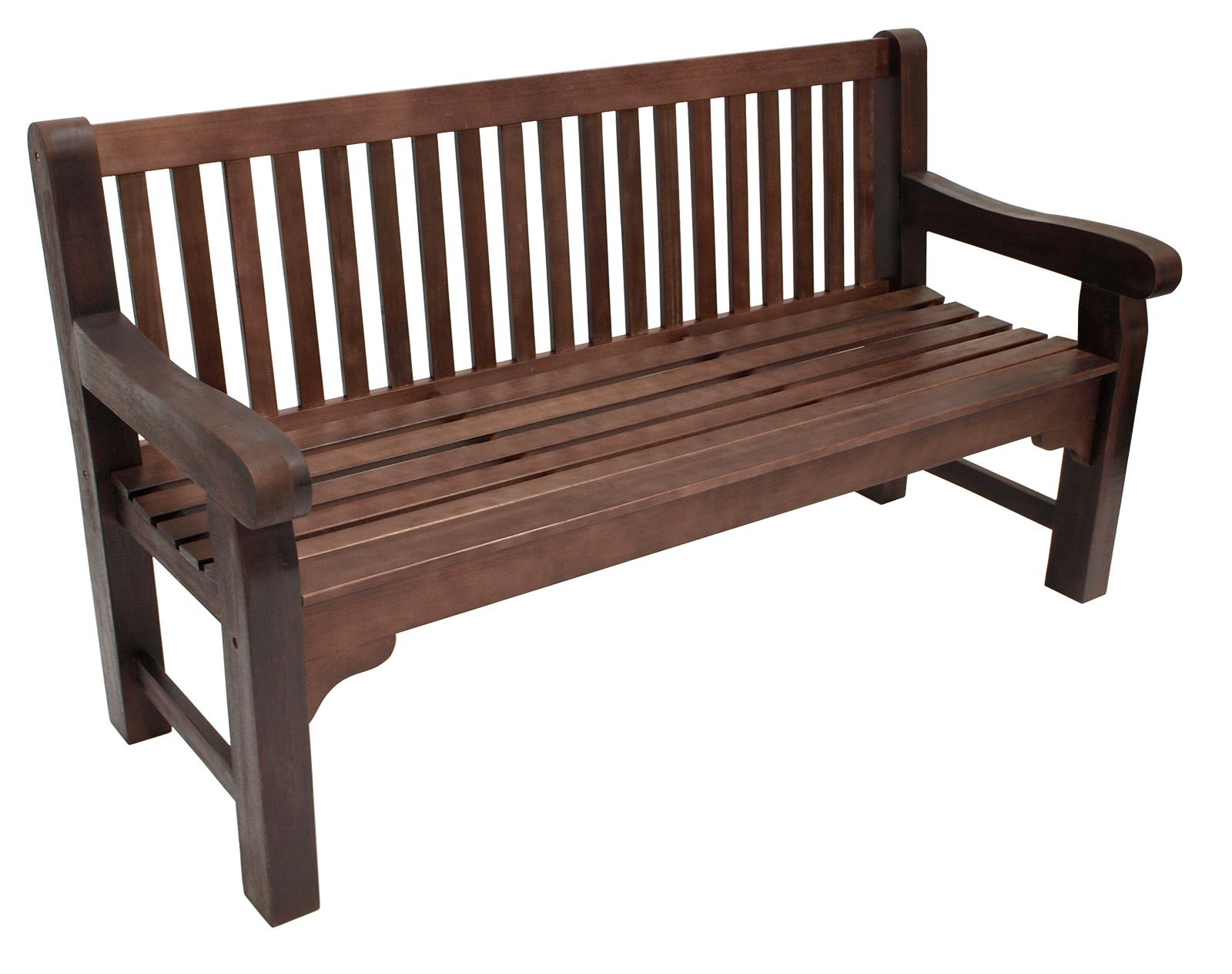 stabile parkbank bristol 3 sitzer im kolonialstil eukalyptus dunkel ge lt ebay. Black Bedroom Furniture Sets. Home Design Ideas