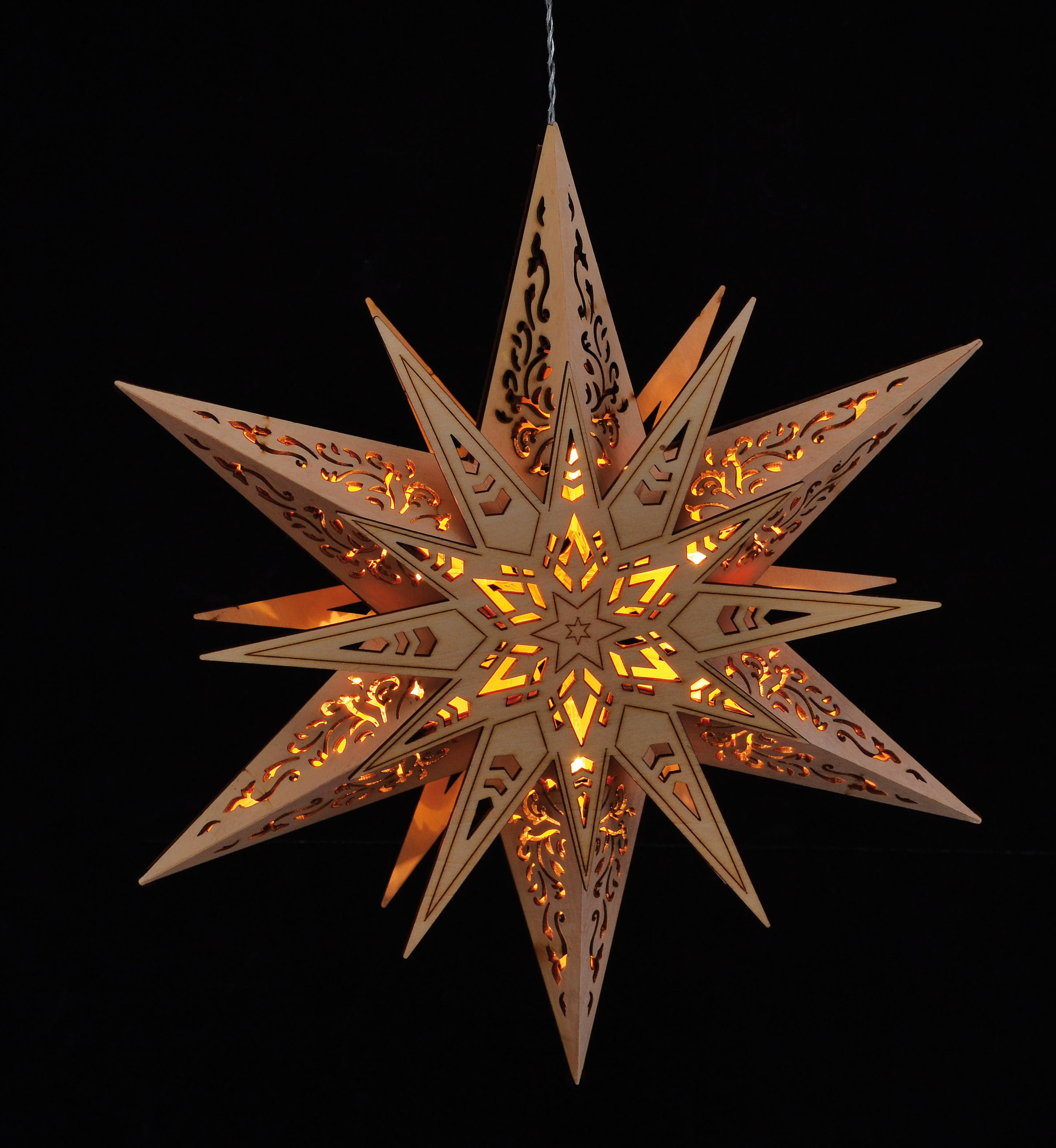 holzstern leuchtstern weihnachtsstern fensterbild. Black Bedroom Furniture Sets. Home Design Ideas