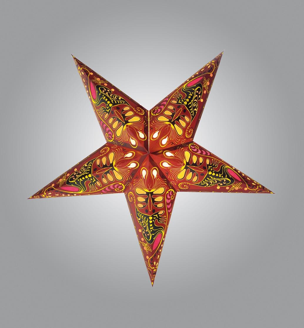 dekostern papierstern weihnachtsstern stern 60cm durchmesser rot bunt ebay. Black Bedroom Furniture Sets. Home Design Ideas