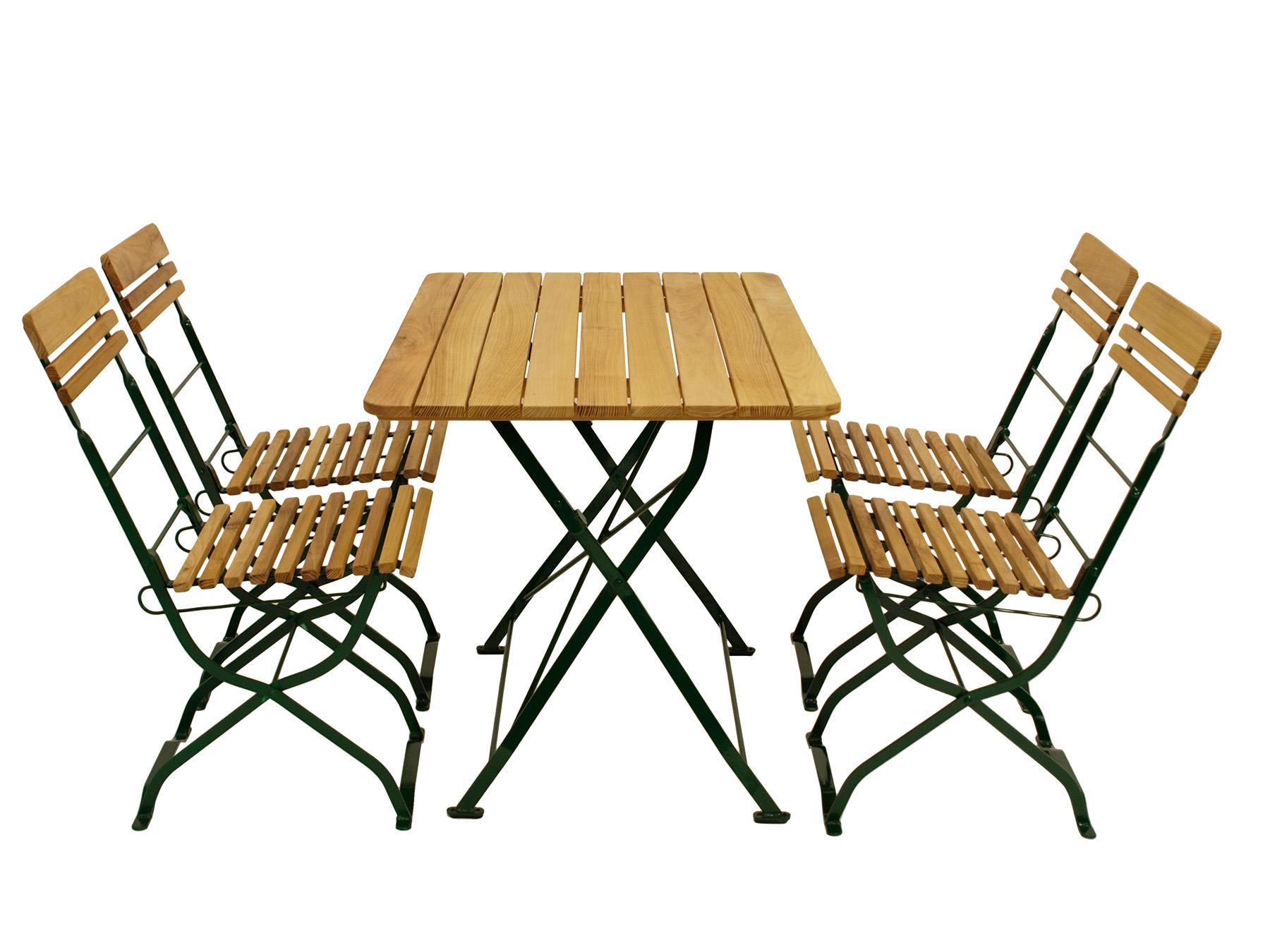 5 teiliges biergarten set biergartengarnitur m nchen flachstahl gr n robinie ebay. Black Bedroom Furniture Sets. Home Design Ideas