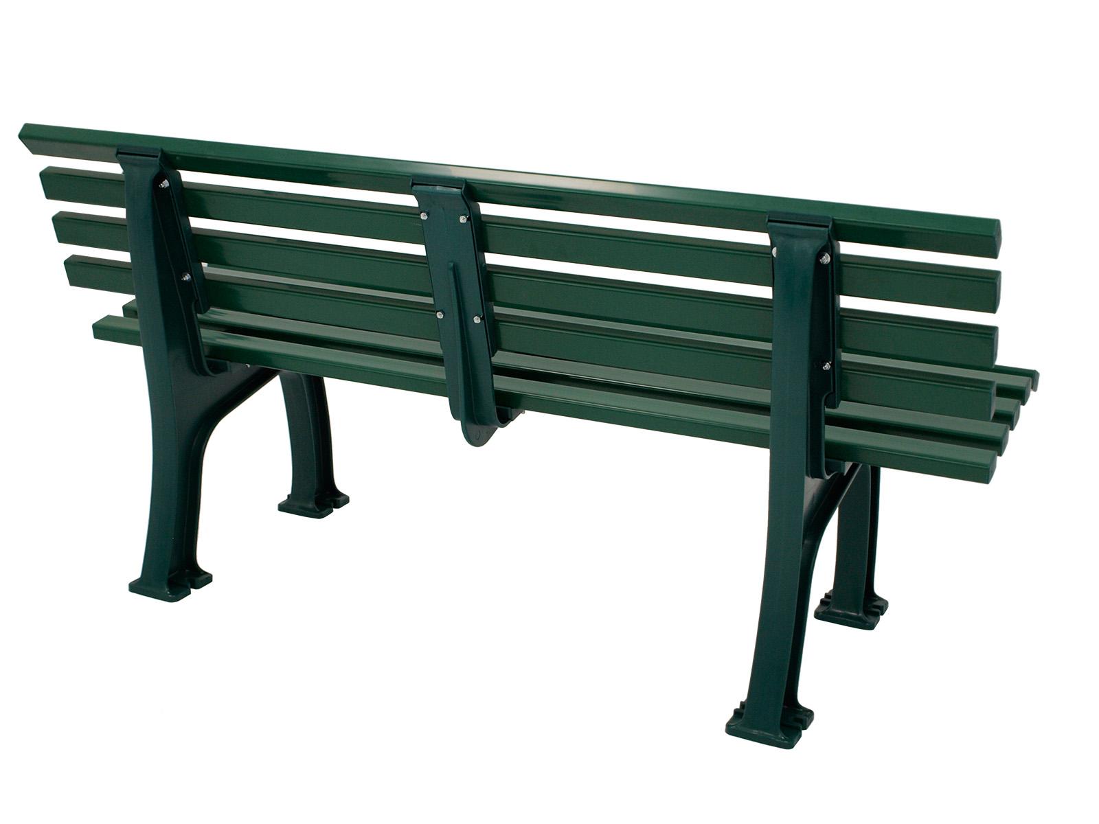 blome parkbank kunststoffbank sylt 3 sitzer 150cm kunststoff gr n wetterfest. Black Bedroom Furniture Sets. Home Design Ideas