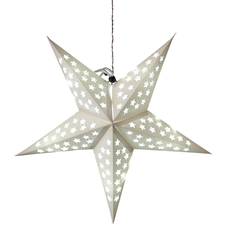 Beleuchteter papierstern weihnachtsstern leuchtstern 60cm for Stern gartenmobel 2016