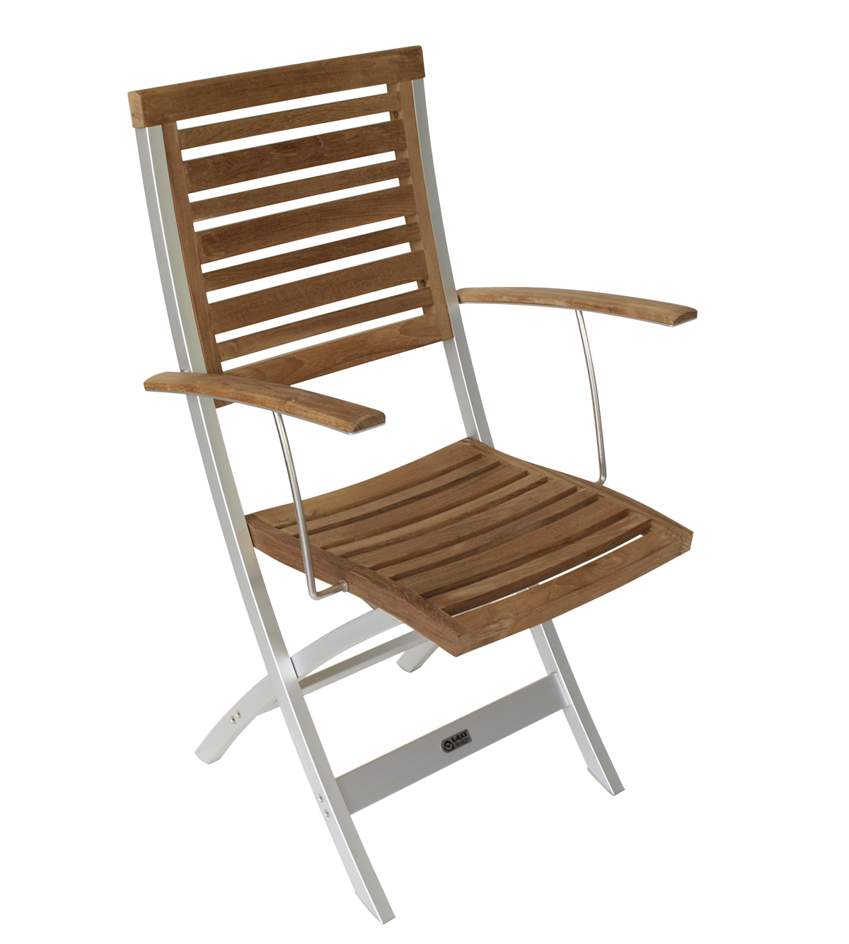 luxus armlehnenstuhl klappsessel venezuela von balke alu aluminium teakholz ebay. Black Bedroom Furniture Sets. Home Design Ideas