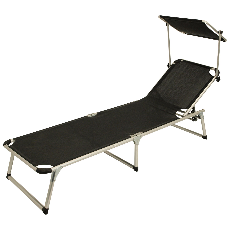 xl klappliege sonnenliege strandliege liege rimini alu schwarz 2 wahl ebay. Black Bedroom Furniture Sets. Home Design Ideas