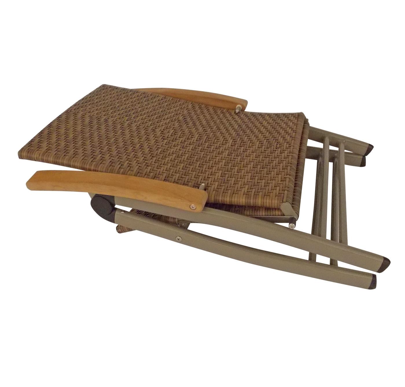 gartensessel gartenstuhl klappsessel vienna rattan braun teak fsc 2 wahl ebay. Black Bedroom Furniture Sets. Home Design Ideas