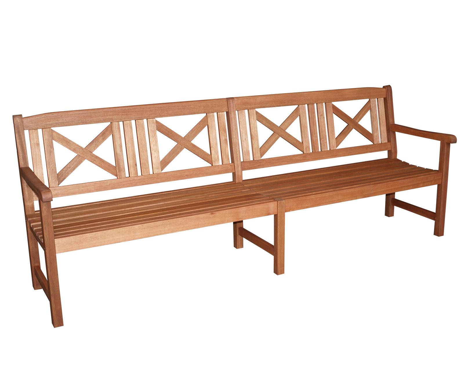 xxl landhausbank gartenbank grenada 4 sitzer 243cm eukalyptusholz fsc zert ebay. Black Bedroom Furniture Sets. Home Design Ideas