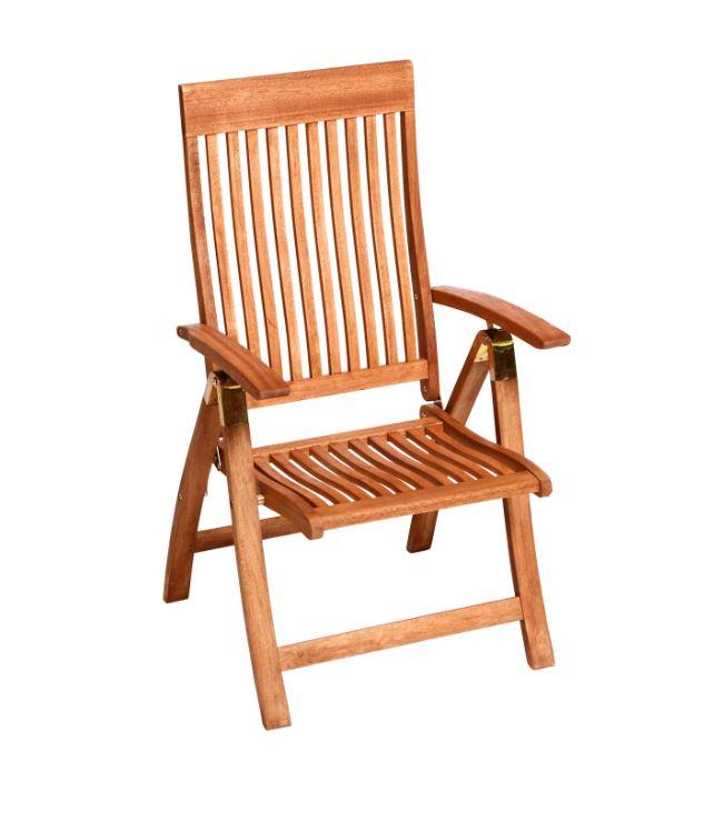 klappsessel verstellsessel comodoro aus eukalyptus hartholz fsc zertifiziert ebay. Black Bedroom Furniture Sets. Home Design Ideas