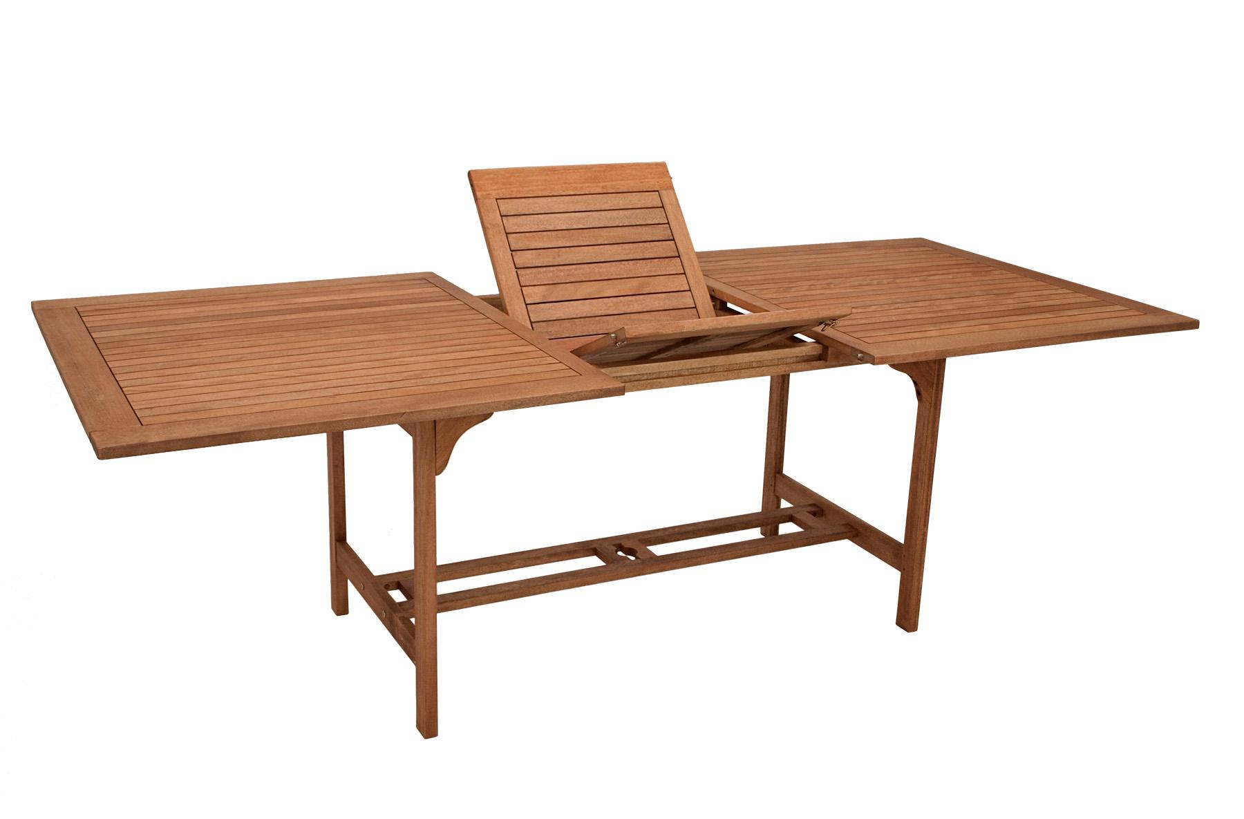 xxl ausziehtisch cordoba eukalyptus 180 230x100cm fsc zertifiziert 2 wahl ebay. Black Bedroom Furniture Sets. Home Design Ideas