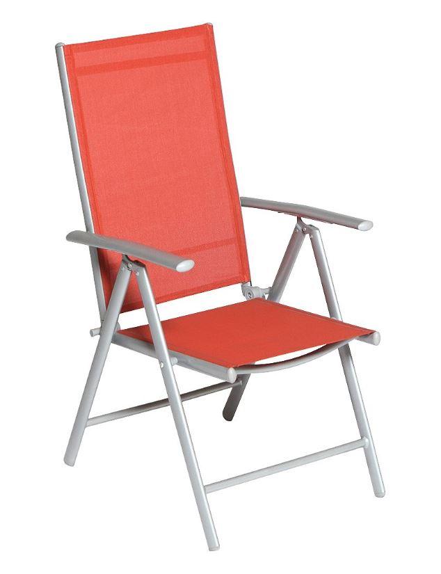 klappsessel amalfi 5 fach verstellbar aluminium kunststoffgewebe terracotta ebay. Black Bedroom Furniture Sets. Home Design Ideas