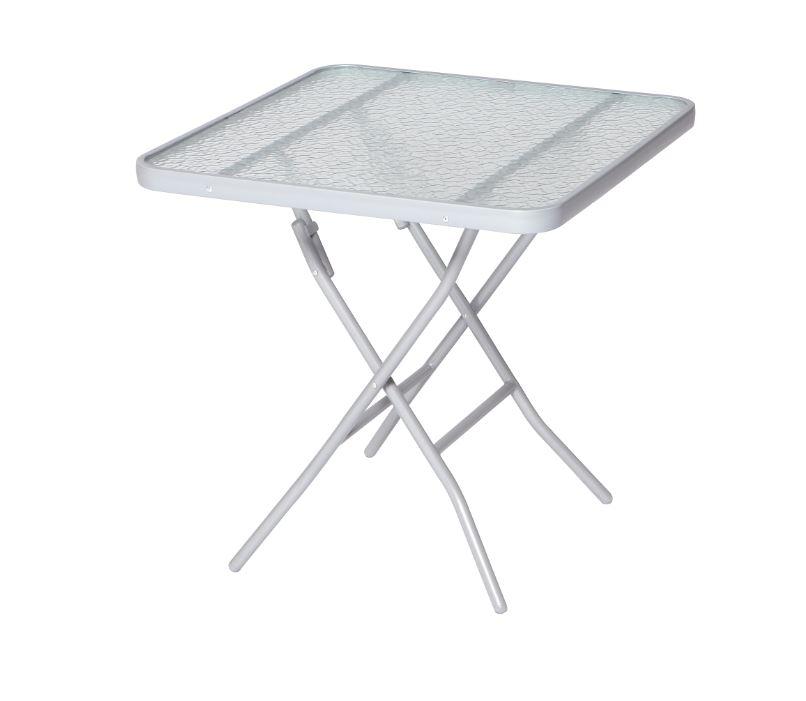 klapptisch bistrotisch glastisch gartentisch pisa 70x70cm alu stahl glasplatte ebay. Black Bedroom Furniture Sets. Home Design Ideas