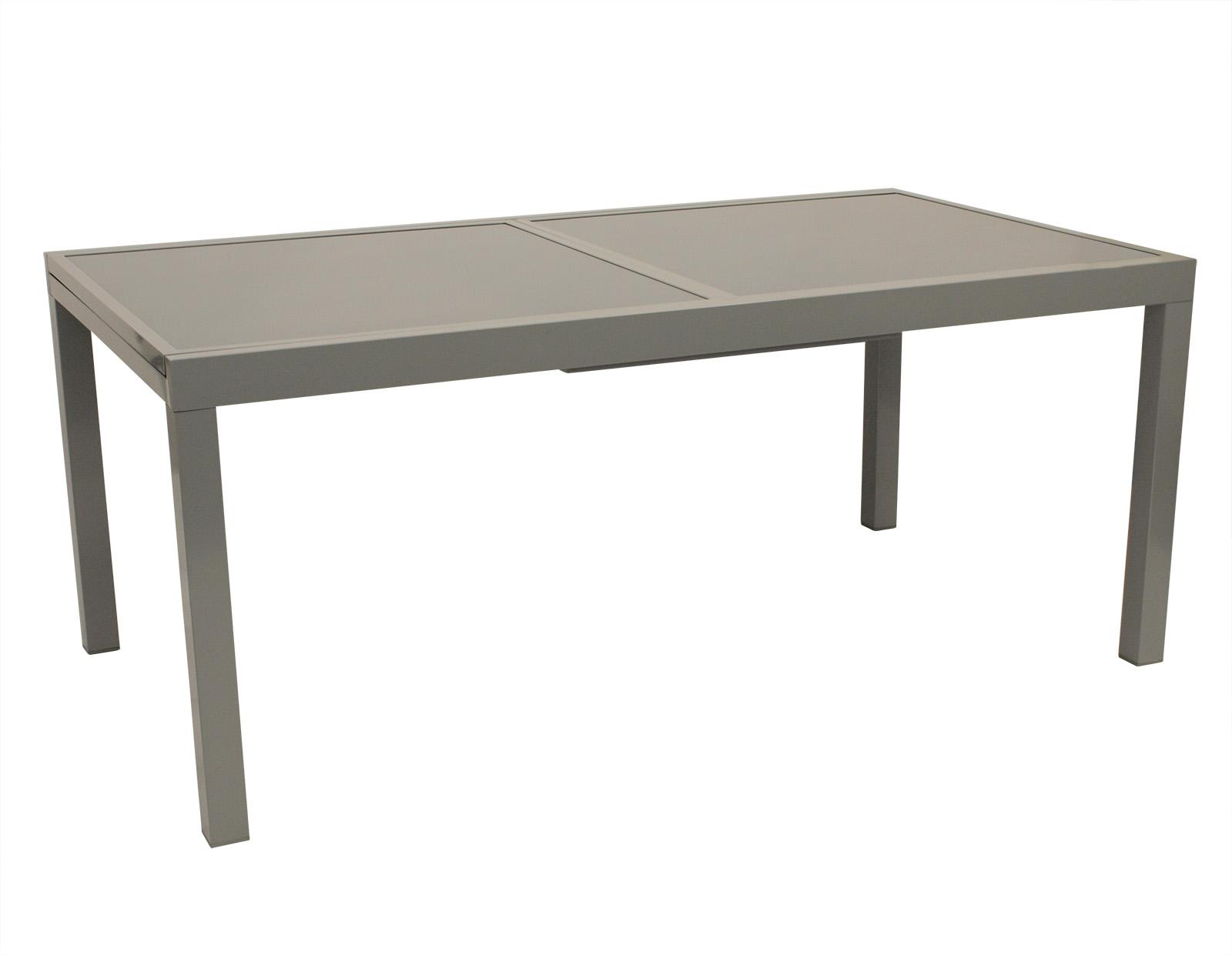gartentisch ausziehtisch gartenm bel xxl tisch glastisch pisa alu glas 100x240cm ebay. Black Bedroom Furniture Sets. Home Design Ideas