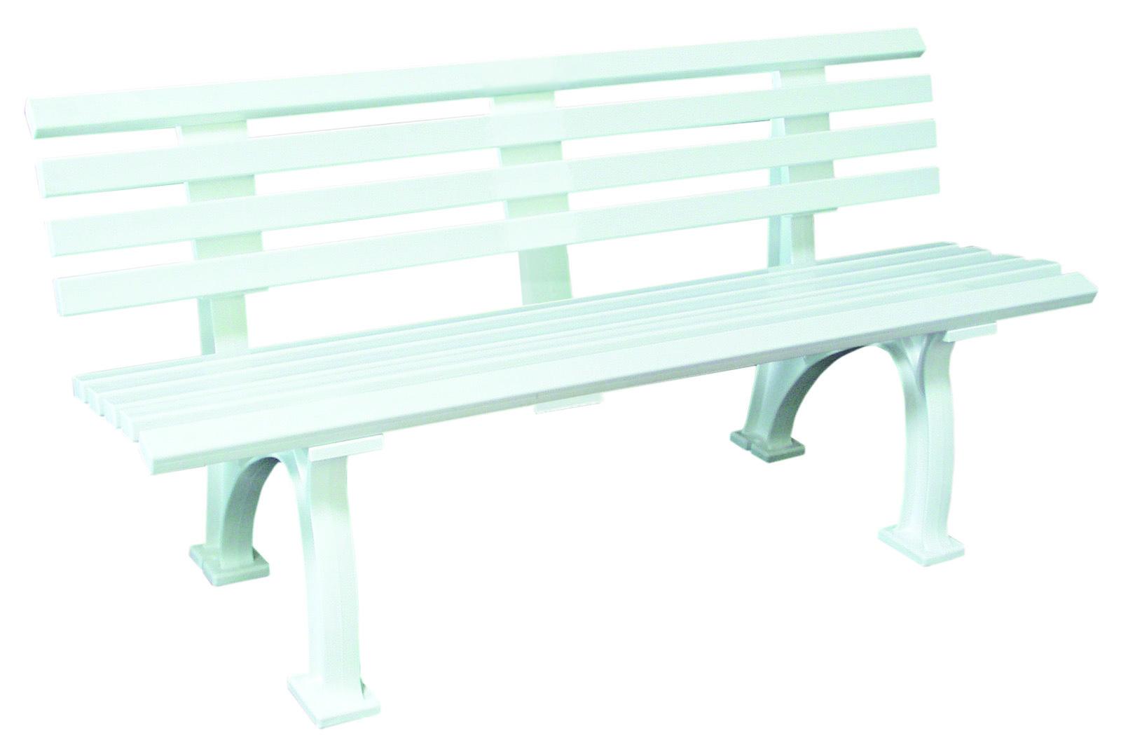 wetterfeste parkbank kunststoffbank plastikbank orion 3 sitzer kunststoff weiss ebay. Black Bedroom Furniture Sets. Home Design Ideas