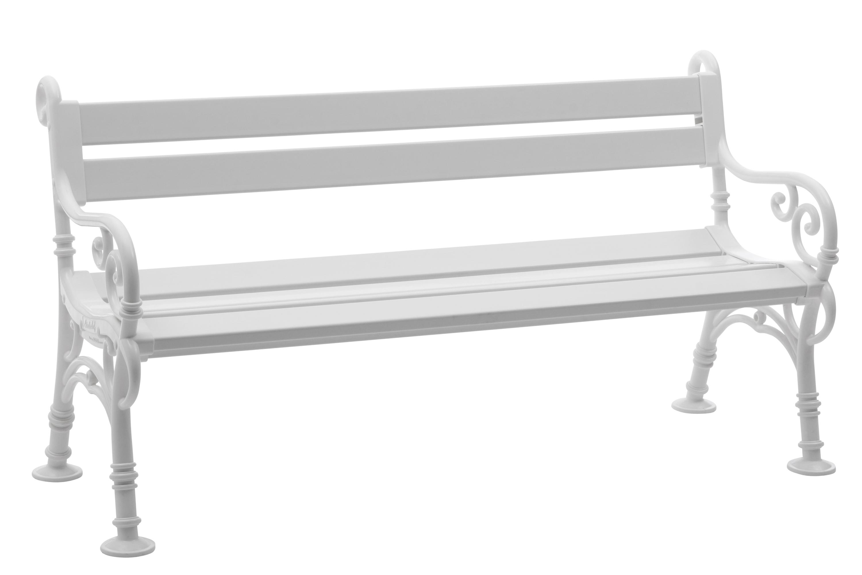 parkbank kunststoffbank linderhof 3 sitzer von blome weiss wetterfest ebay. Black Bedroom Furniture Sets. Home Design Ideas