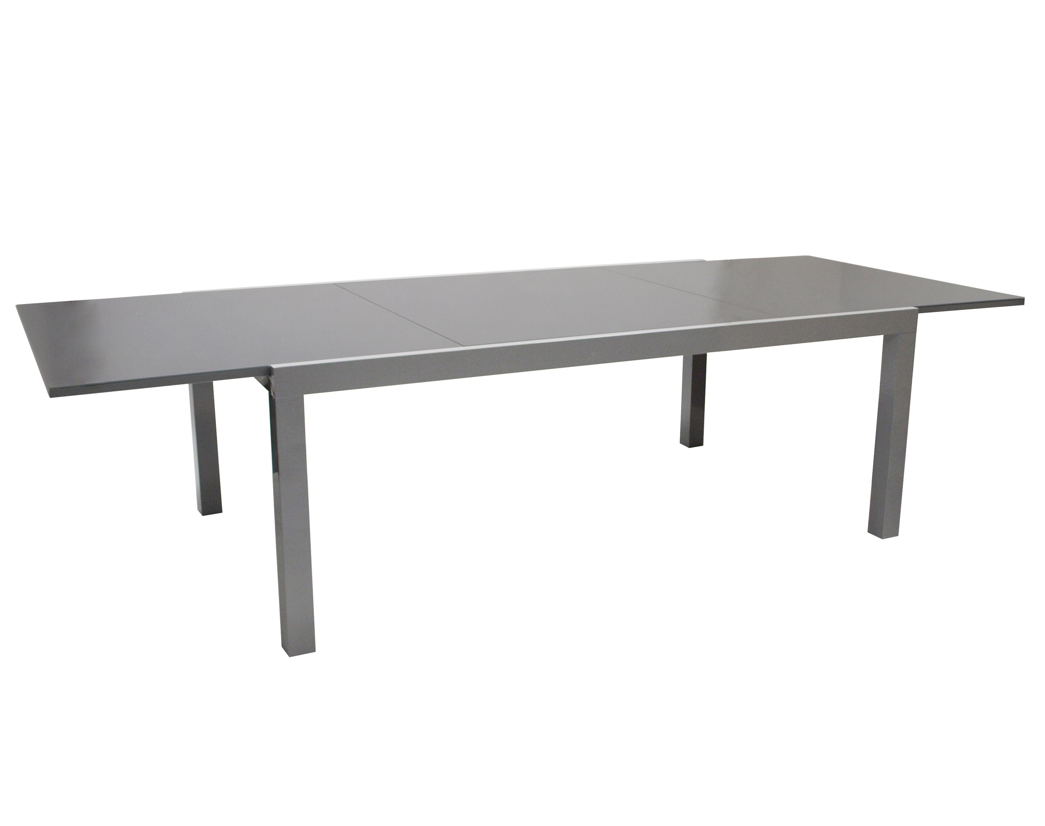 gartentisch ausziehtisch gartenm bel tisch glastisch marina alu glas 300x110cm ebay. Black Bedroom Furniture Sets. Home Design Ideas