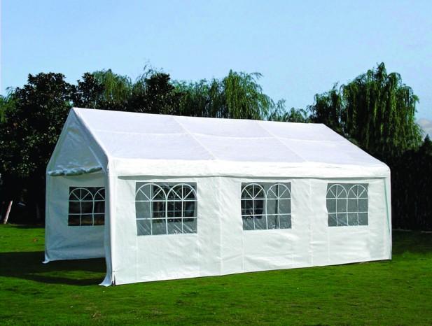 profizelt pavillon partyzelt palma 4x6 meter pvc weiss gestell verzinkt 38mm. Black Bedroom Furniture Sets. Home Design Ideas