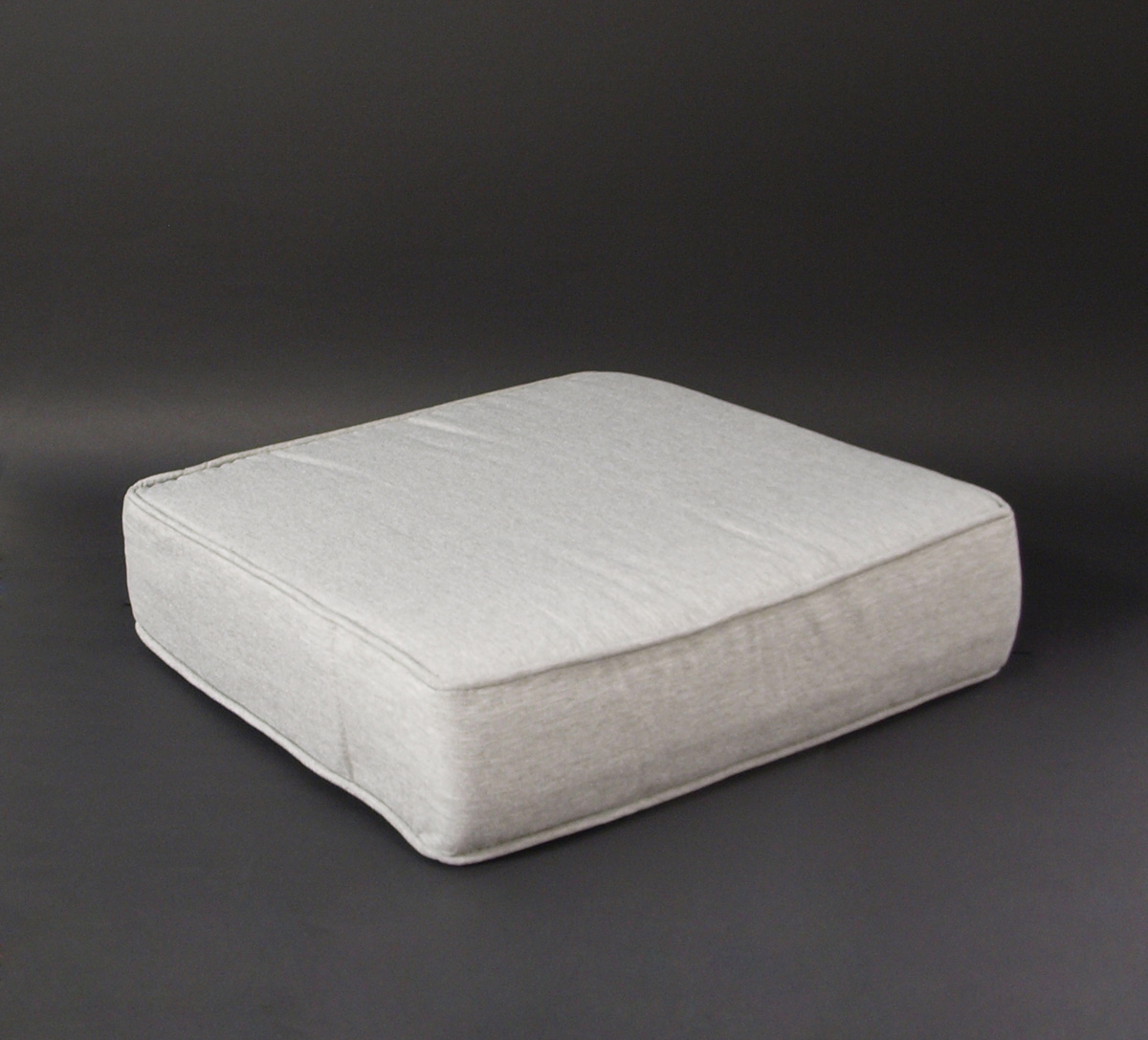 2x sitzauflage lounge sitzpolster sitzkissen 40x40x10cm hellgrau in boxform ebay. Black Bedroom Furniture Sets. Home Design Ideas