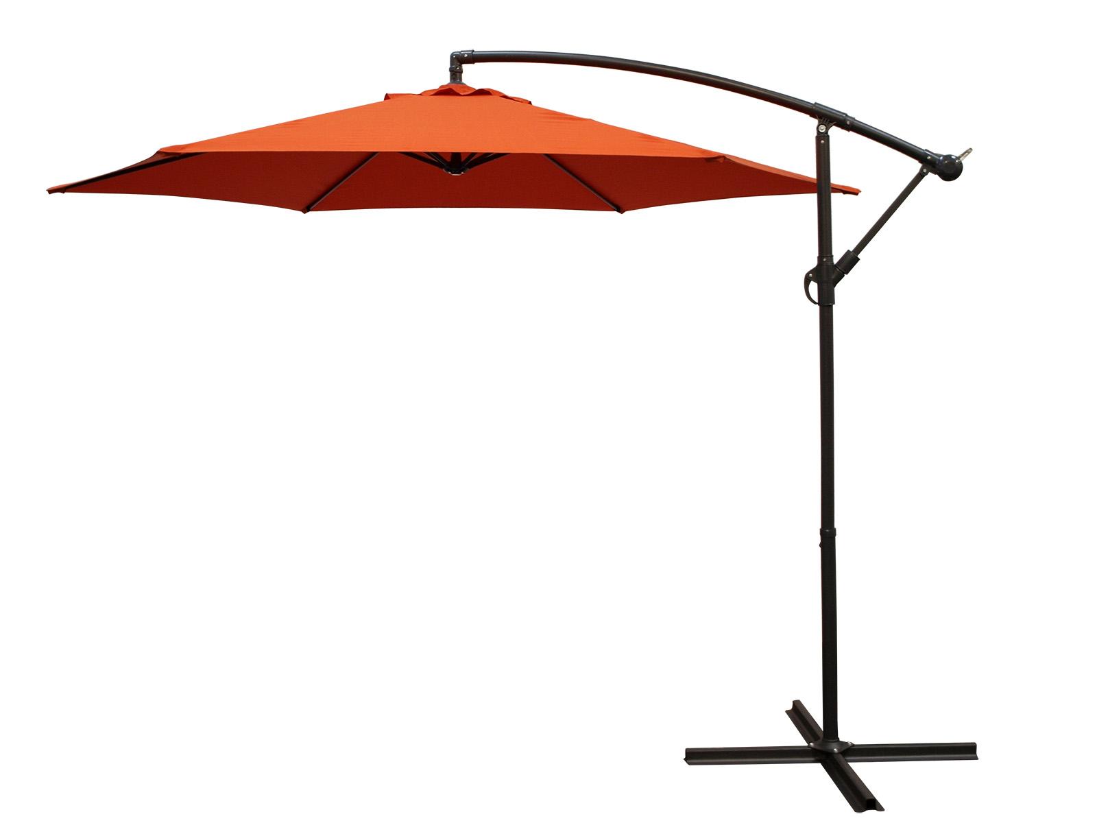 ampelschirm h ngeschirm mit kurbel 300cm terra gestell alu uv schutzfaktor 50 ebay. Black Bedroom Furniture Sets. Home Design Ideas