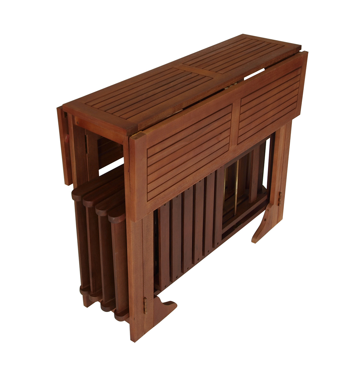 terrassenset balkonset pedro 4x klappstuhl 1x doppelklappentisch fsc ebay. Black Bedroom Furniture Sets. Home Design Ideas