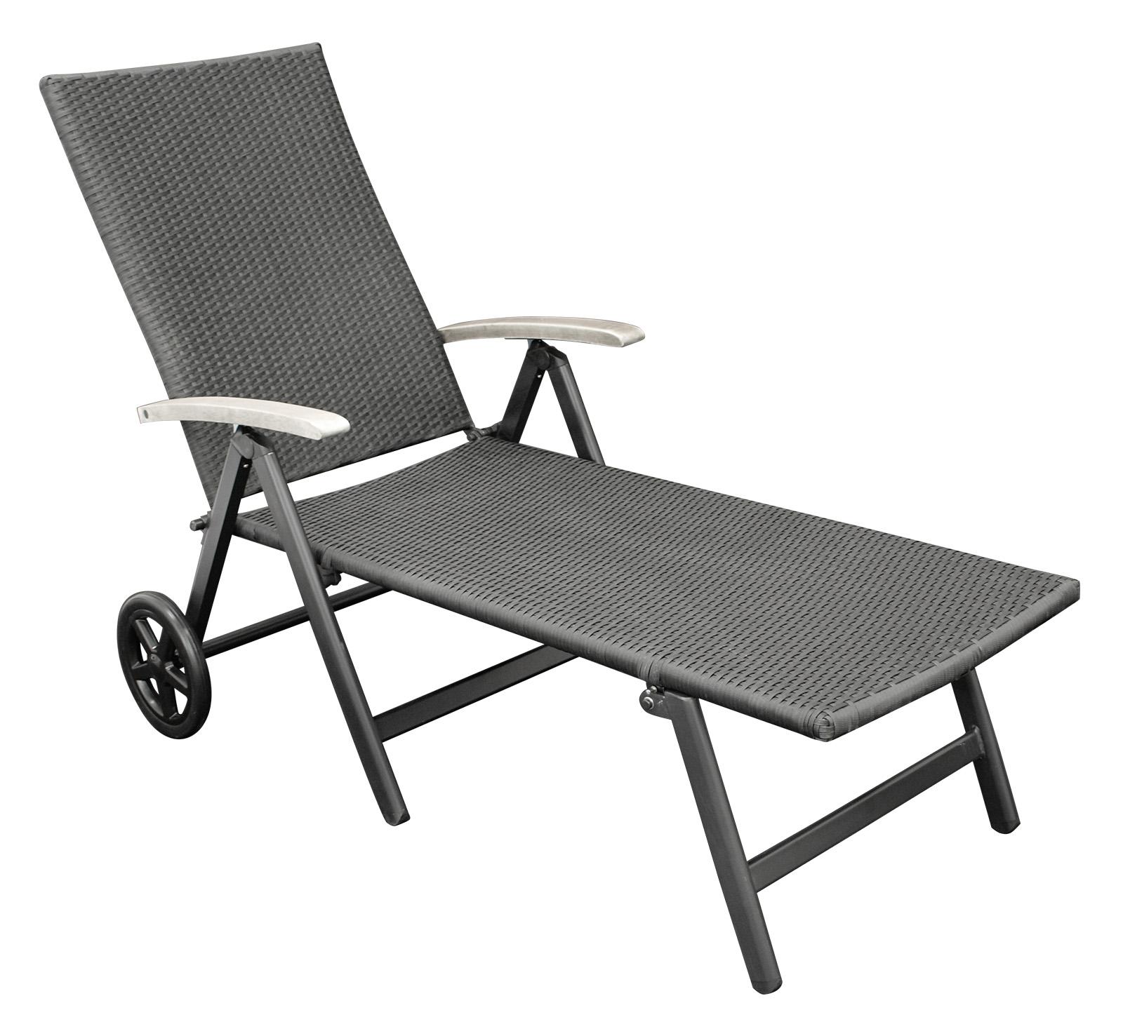 rollenliege sonnenliege rollliege aluminium grau. Black Bedroom Furniture Sets. Home Design Ideas