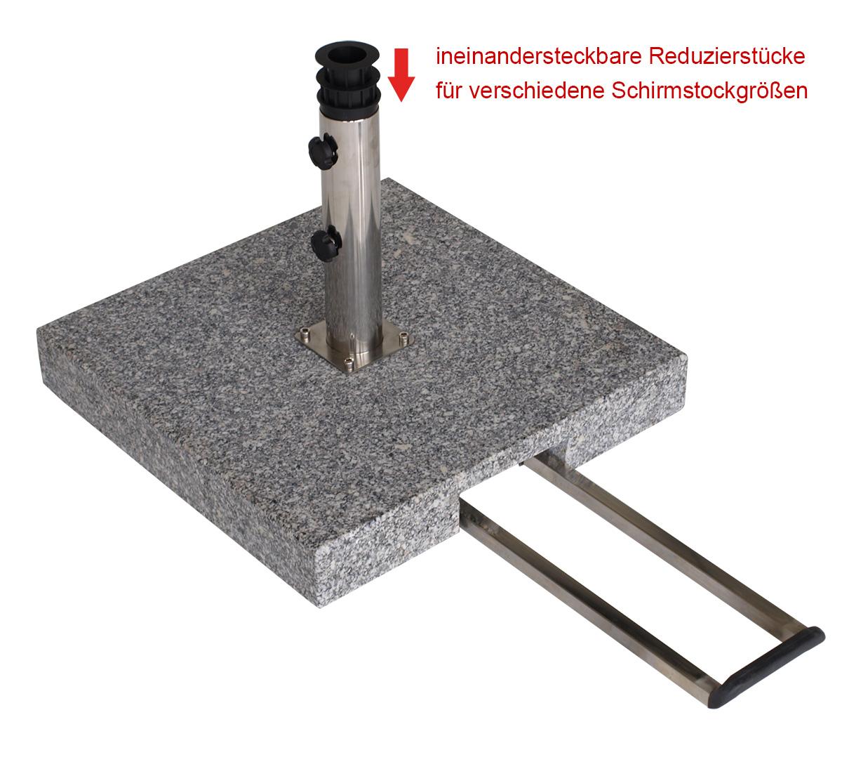 schirmst nder aus poliertem granit granitst nder 60kg. Black Bedroom Furniture Sets. Home Design Ideas