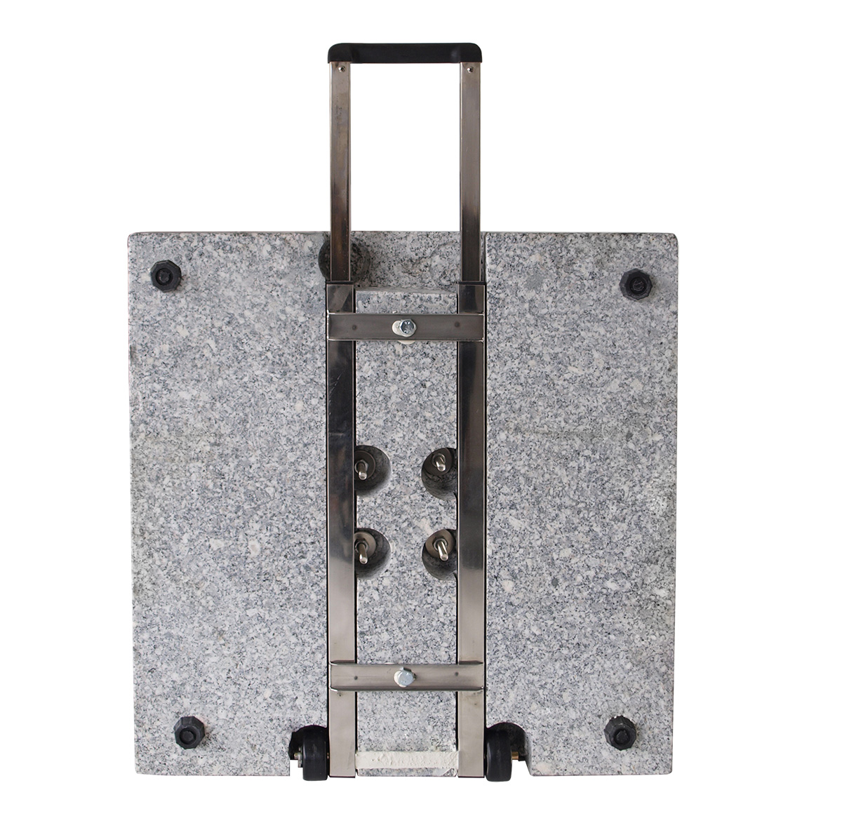 schirmst nder aus poliertem granit granitst nder 60kg eckig mit rollen haiger. Black Bedroom Furniture Sets. Home Design Ideas