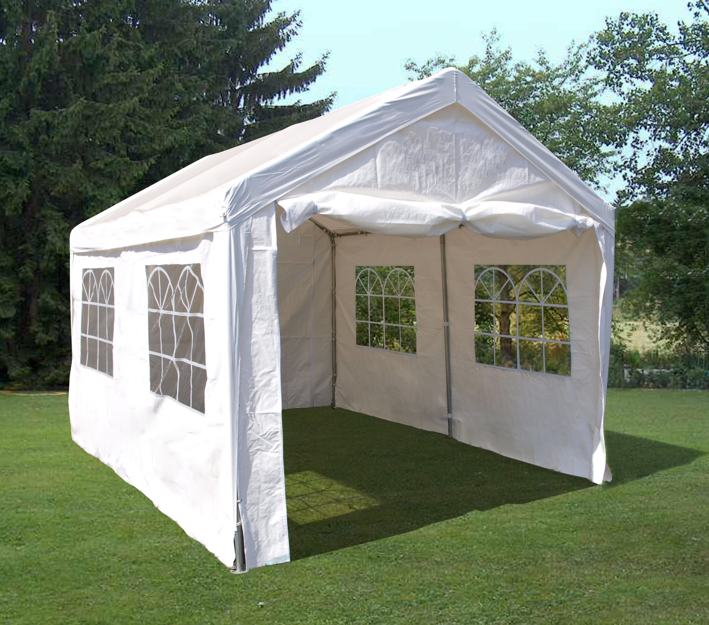 profizelt pavillon partyzelt festzelt 3x4 meter pvc wei. Black Bedroom Furniture Sets. Home Design Ideas